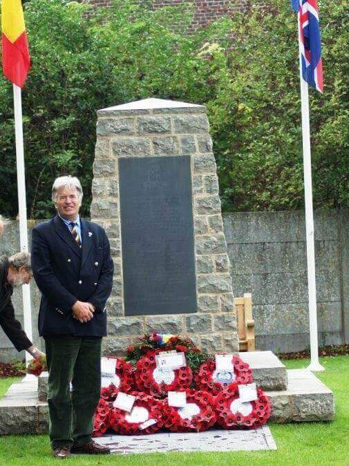 George Jessel DL laid a wreath on behalf of The Kent Lieutenancy at the Tertre Memorial to honour the Queen's Own Royal West Kent Regiment.