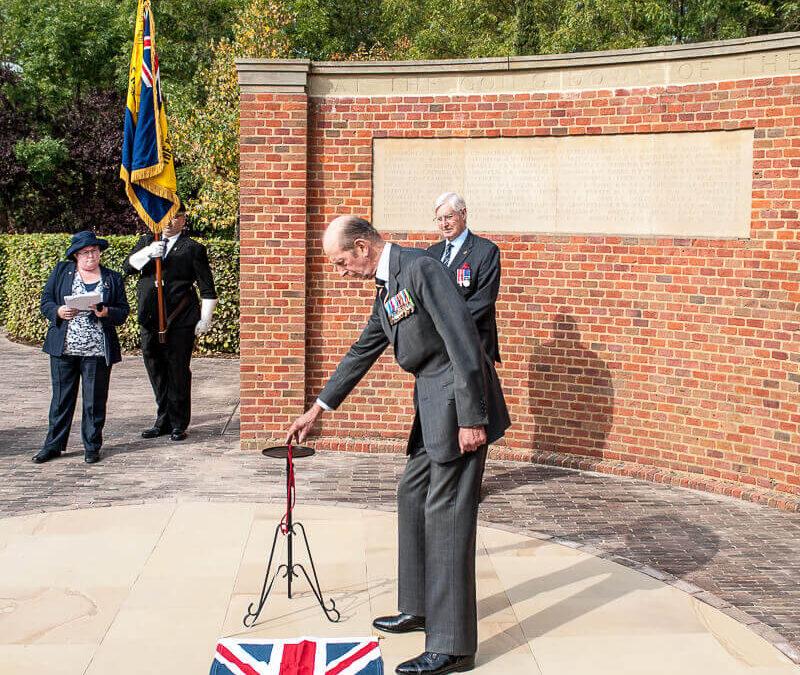 HRH The Duke of Kent unveiling the commemorative stone (c) David Hodgkinson