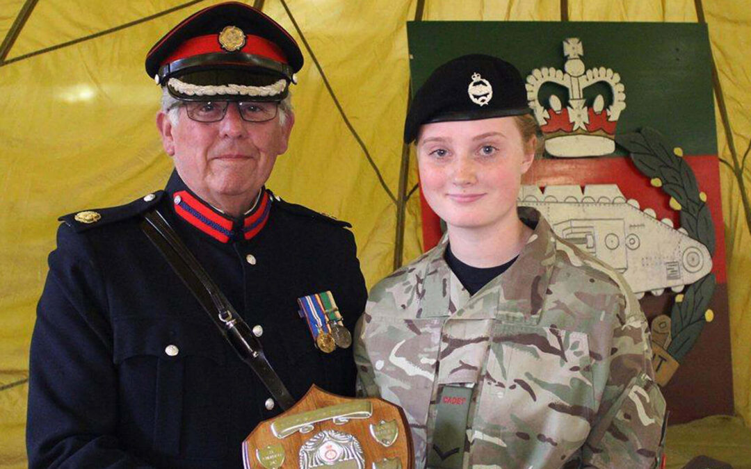 Deputy Lieutenant Barry Duffield presenting one of the well-earned awards. (c) Barry Duffield DL
