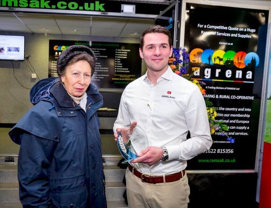 The Princess Royal presented the Chris Smith Trophy – awarded to The Best New Exhibitor - to Karl Glass of Kirkland UK Ltd. (c) Thomas Alexander