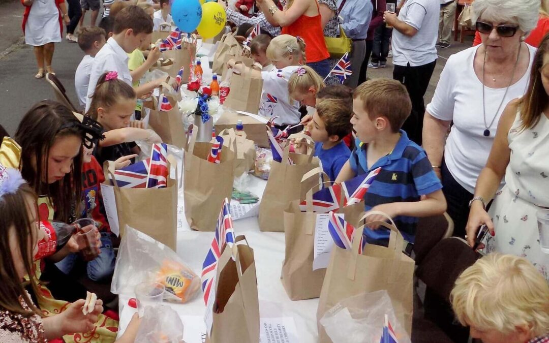 Children enjoying the Street Party. (c) Barry Duffield DL