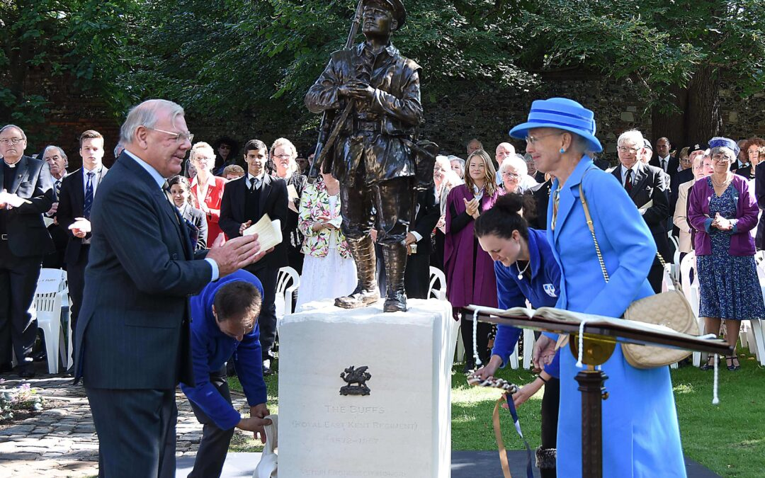 The Buffs Statue Unveiling by Queen Margrethe II of Denmark, 11th September, 2015