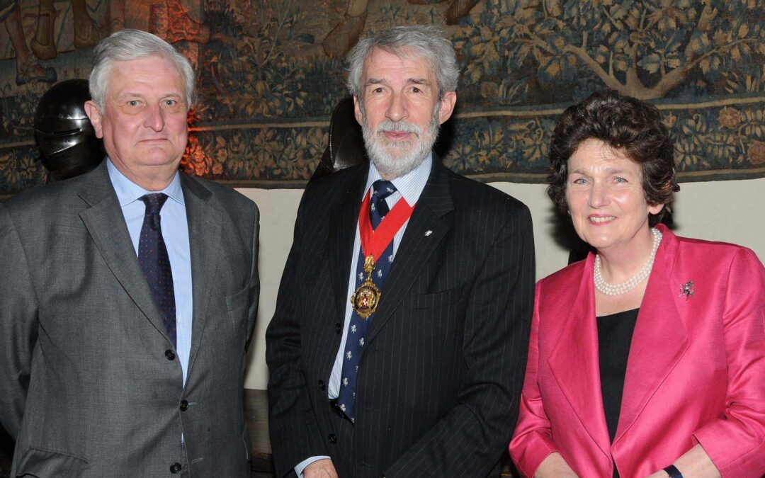 The Lord-Lieutenant, Viscount De L'Isle MBE, left, the new Chairman of Kent County Council, Mr Richard King and Viscountess De L'Isle.