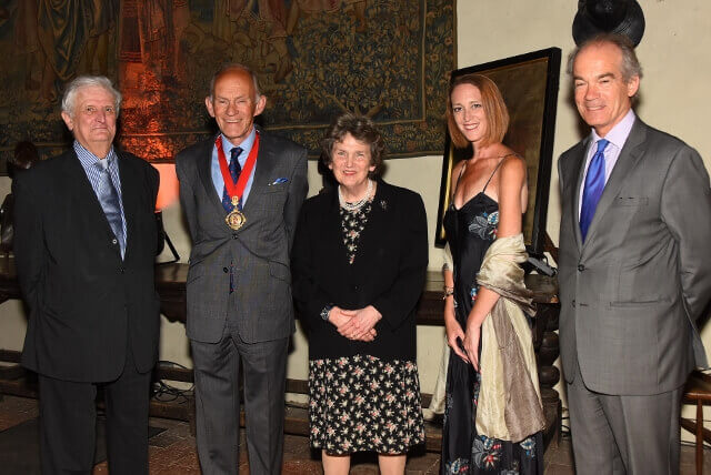 Left to right: Viscount De L'Isle, Lord-Lieutenant of Kent; Mr David Brazier, Chairman of KCC; Viscountess De L'Isle; Ms Claire Pearsall; Mr Richard Oldfield, Vice-Lord-Lieutenant of Kent. (c) Barry Duffield DL.