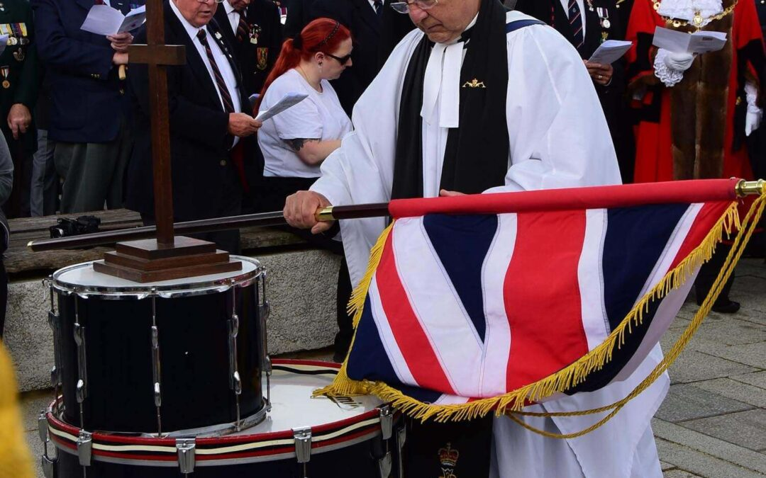The Reverend Gordon Warren who led the Drum Head Service. (c)Barry Duffield DL.