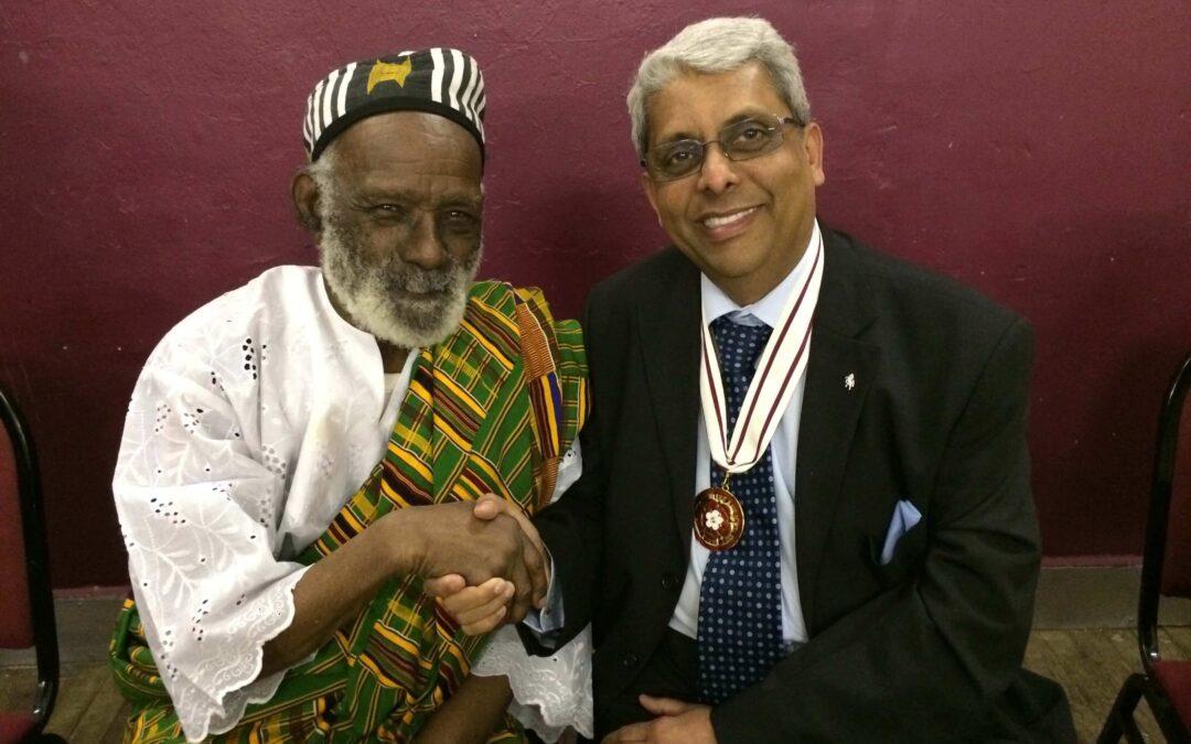 Dr Bhargawa Vasudaven DL with Mr James Barnor.©Dr Bhargawa Vasudaven DL