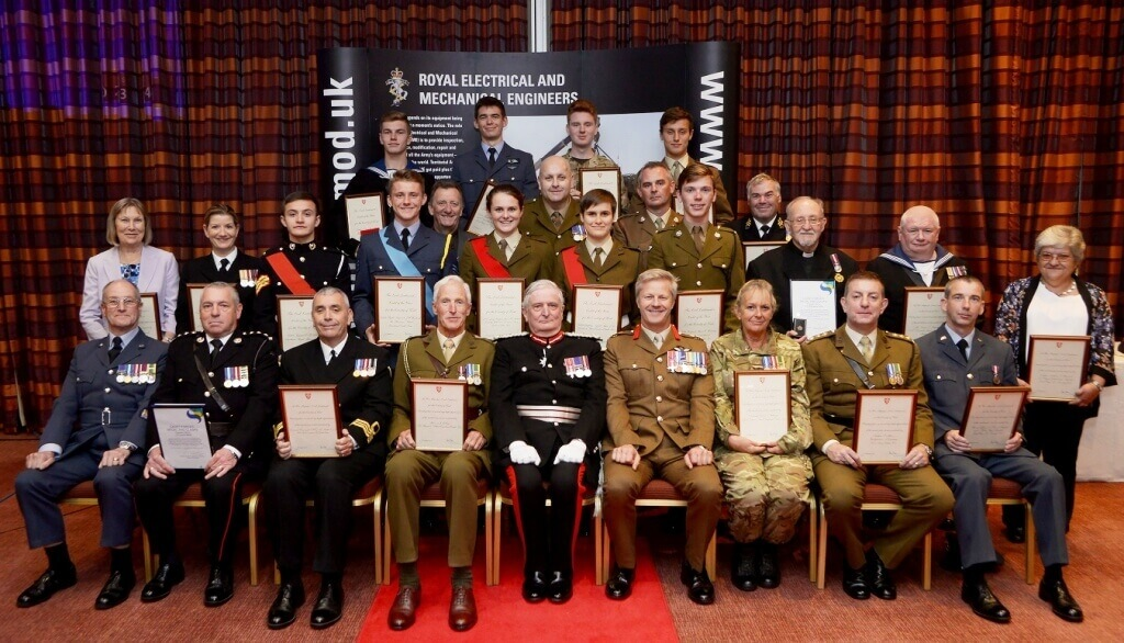 The Lord-Lieutenant pictured with award winners. (c) Kevin Poolman