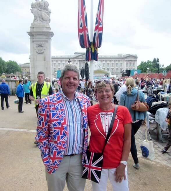 Steve Thomas, Trustee of Wealden Sailability, with his wife Carol.