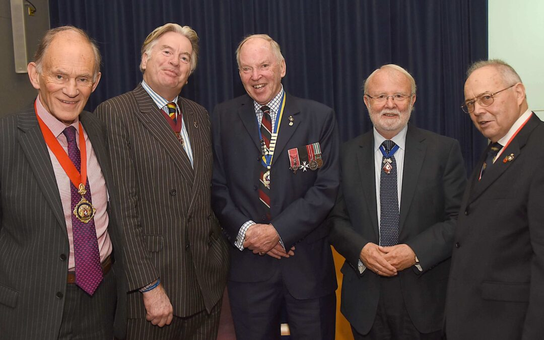 Pictured left to right: Mr David Brazier, Chairman of KCC; Mr George Jessel, High Sheriff of Kent; Mr Leyland Ridings, President of the Kent County Royal British Legion; Mr Bill Cockroft DL, representing the Lord-Lieutenant and Mr Richard Graham, Vice-Chairman of Kent RBL. (c) Mr Barry Duffield DL.