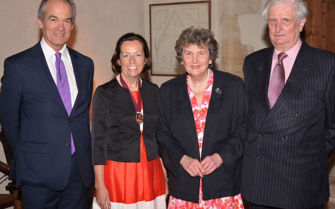 Left to right: Mr Richard Oldfield, Vice-Lord-Lieutenant of Kent; Mrs Kathrin Smallwood, High Sheriff of Kent; Viscountess De L'Isle; Viscount De L'Isle, Lord-Lieutenant of Kent. (c) Robert Berry.
