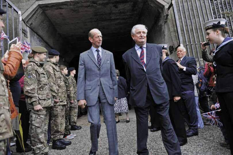 HRH The Duke of Kent accompanied by the Lord Lieutenant of Kent visiting the Ramsgate Tunnels.
