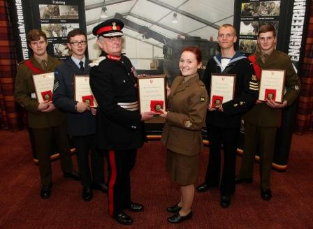 Lord-Lieutenant with Cadets