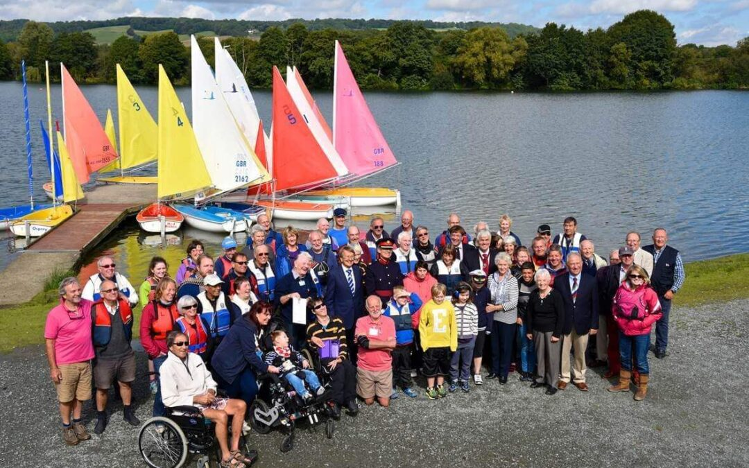 Wealden Sailability celebrate their success with volunteers, clients, carers and guests at the group's Chipstead Sailing Club home. (c) David Barker.