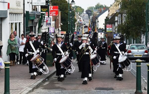 Sea Cadets on Parade in Sittingbourne Town Centre
