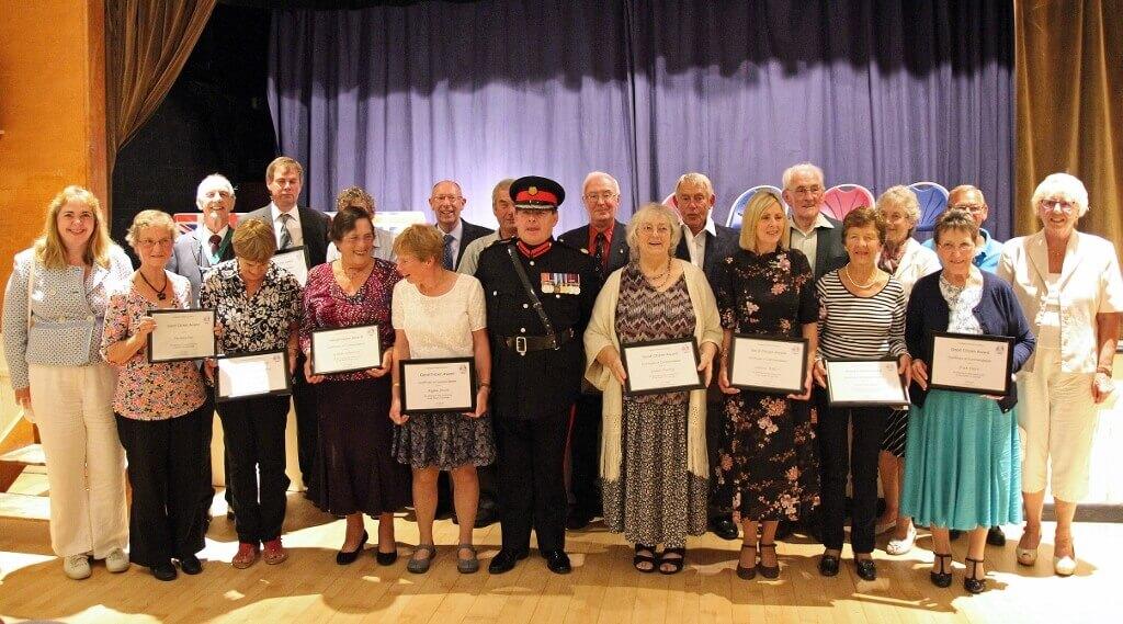 Award Winners pictured with centre, Deputy Lieutenant Major Dennis Bradley BEM DL (c) Crispin Davies