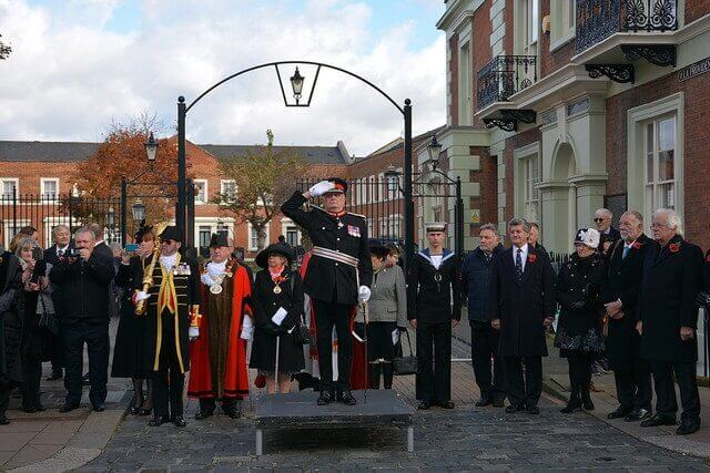 The Lord-Lieutenant at the Rochester Remembrance Parade. (c) Symon Lock