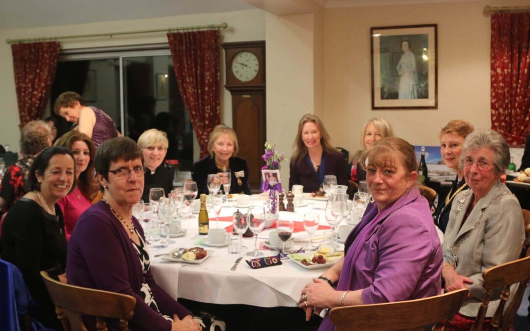 Top table at the New Romney International Women's Day Charity Dinner. (c)Susan Pilcher, Footprints