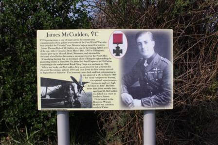 James McCudden Information Board