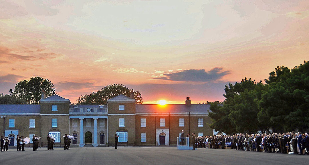"""The Band of The Brigade of Gurkhas playing """"Sunset"""" as the Union Flag is lowered. (c) Chris Lawson"""