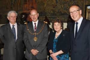 Left to right: Viscount De L'Isle, Lord-Lieutenant of Kent; Cllr David Naghi, The Worshipful The Mayor of Maidstone; Viscountess De L'Isle; Mr Bill Ferris OBE DL. (c) Barry Duffield DL.
