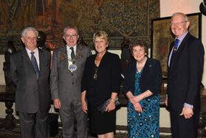 Left to right: Viscount De L'Isle, Lord-Lieutenant of Kent; Cllr Steve Iles, The Worshipful The Mayor of Medway; Mayoress of Medway, Cllr Mrs Josie Iles; Viscountess De L'Isle; Mr Russell Race JP DL. (c) Barry Duffield DL.