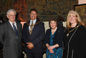Left to right: Viscount De L'Isle, Lord-Lieutenant of Kent; Cllr David Mote, The Worshipful the Mayor of Dartford; Viscountess De L'Isle;  Mrs Ellen Mote, Mayoress of Dartford; Barry Duffield DL.