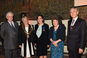 Left to right: Viscount De L'Isle, Lord-Lieutenant of Kent; Cllr Mrs Pam Bates, The Worshipful the Mayor of Tonbridge and Malling; Mrs Pauline Plummer, Mayor's Escort; Viscountess De L'Isle; Mr Jacques Arnold DL. (c) Barry Duffield DL.