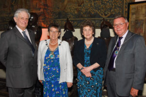 Left to right: Viscount De L'Isle, Lord-Lieutenant of Kent; Cllr Mrs Pat Bosley, Chairman of Sevenoaks District Council; Viscountess De L'Isle;  Cllr Ian Bosley, Chairman's Escort (c) Barry Duffield DL.