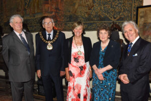 Left to right: Viscount De L'Isle, Lord-Lieutenant of Kent; Cllr Len Horwood, The Worshipful the Mayor of Tunbridge Wells; Mrs Judy Horwood, Mayoress of Tunbridge Wells; Viscountess De L'Isle;  Mr Peter Blackwell JP DL. (c) Barry Duffield DL.