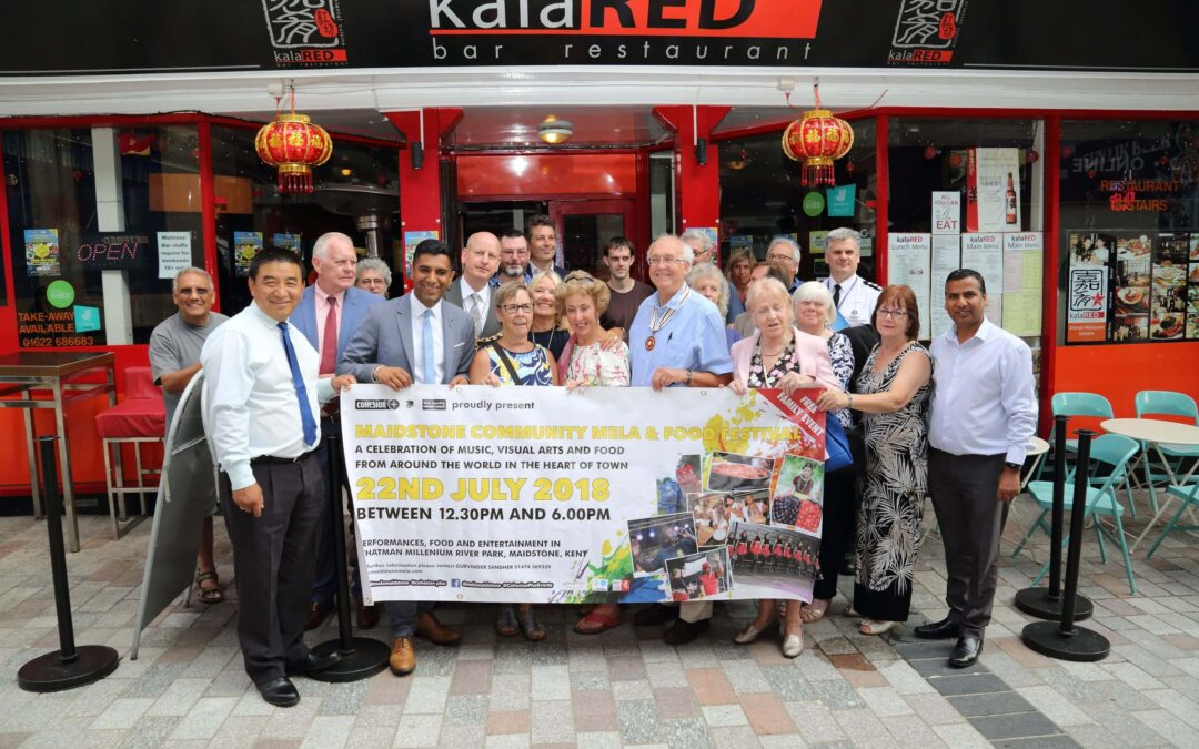 Supporters, volunteers and guests at the launch promoting the Community Mela and Food Festival 2018. (c)Kent Equality Cohesion Council