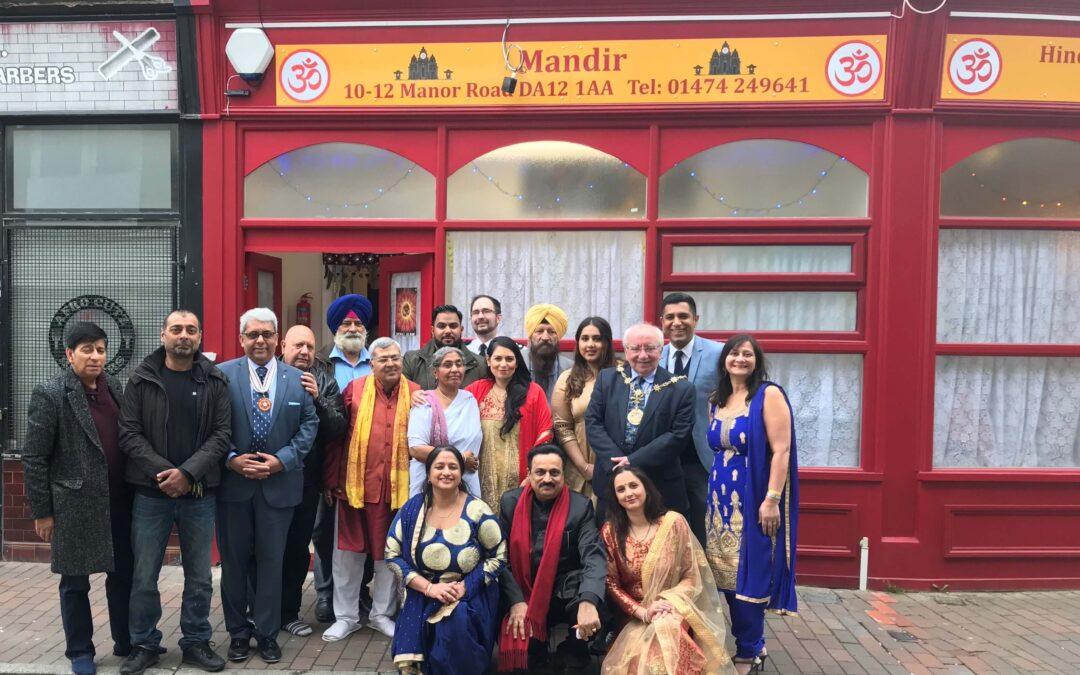 Organisers and guests celebrating the opening of the new Hindu Mandir in Gravesend. (c) Gravesend Reporter