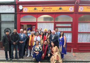 Organisers and guests celebrating the opening of the new Hindu Temple in Gravesend. (c )Kent Equality Cohesion Council