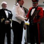 Captain James Kitney MN being presented with his award by Mr Paul Auston DL. (c) Rachel Adams Photography.