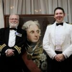 From left to right: Lt Cdr Michael Goodwin and Capt James Kitney MN.(c)Rachel Adams Photography.