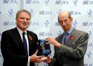 HRH The Duke of Kent presenting Jon Tibbs, Chairman of JTA, with its second Queen's Award for Enterprise in International Trade. (c) JTA.