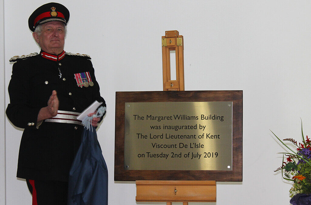 The Lord- Lieutenant inaugurates the Margaret Williams Building at Wye School. (c) Wye School.
