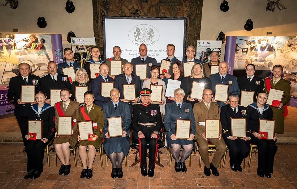 All awards Recipients pictured with the Lord-Lieutenant, centre. (c) Stewart Turkington.