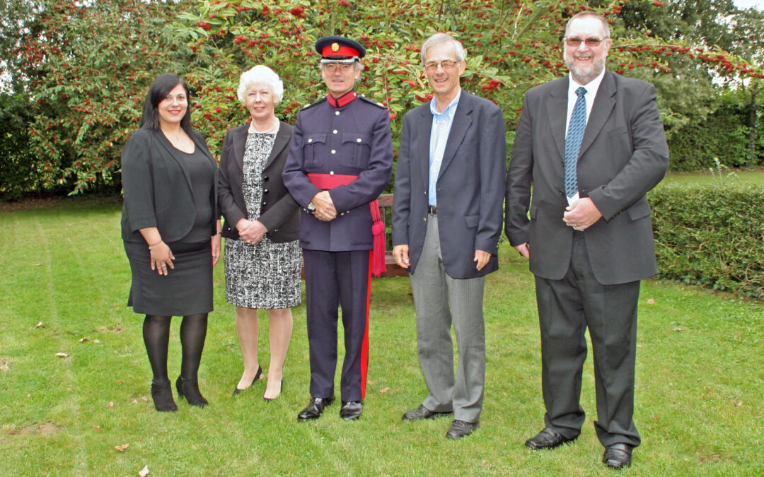 Pictured are (L to R) Miss Esin Uslu Deputy Justices' Clerk (People) for Kent, Mrs Karen Dibble JP East Kent Bench Chairman, Mr Richard Oldfield OBE DL Vice Lord- Lieutenant, Mr Paul Smith JP and Mr Ken Benn JP (Recipients of 20 Year Certificates). Not shown is Mrs Jayne-Ann Brown JP who also received a certificate later the same day.