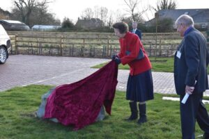 The Princess Royal unveiling the plaque.