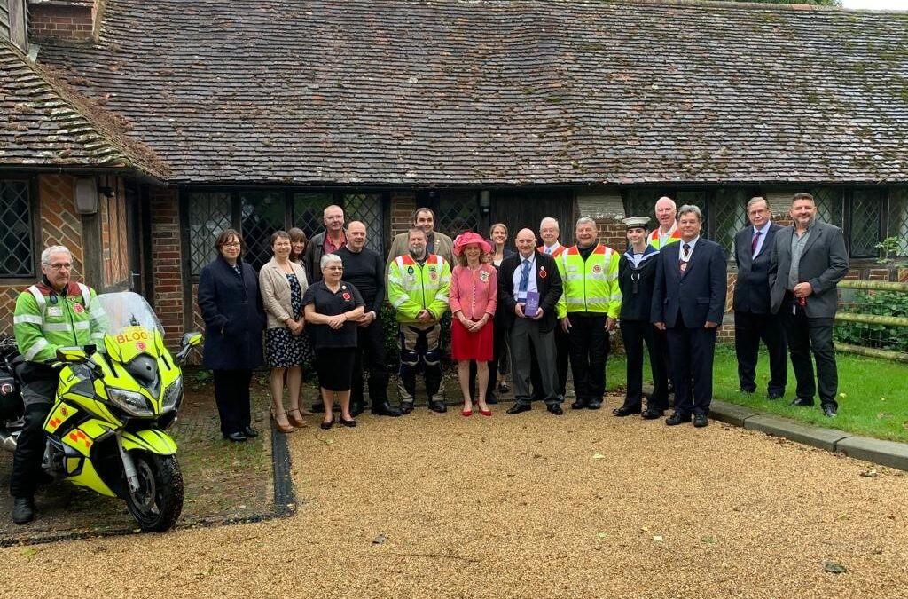 SERV Kent receive their Queen's Award for Voluntary Service